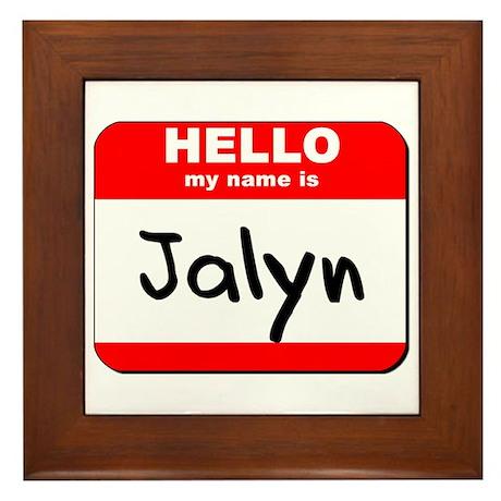 Hello my name is Jalyn Framed Tile
