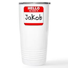 Hello my name is Jakob Travel Mug