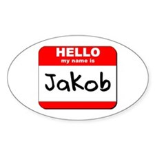 Hello my name is Jakob Oval Decal