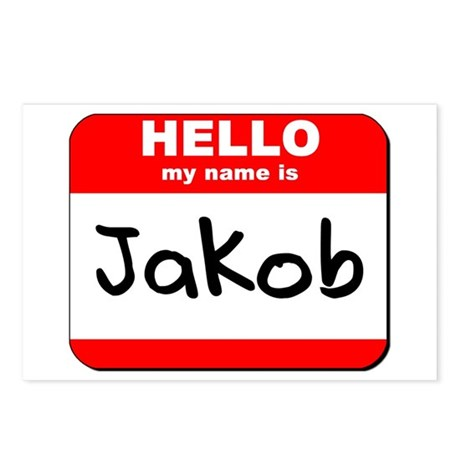 Hello my name is Jakob Postcards (Package of 8)