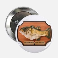 "Singing Fish Plaque 2.25"" Button"