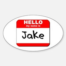 Hello my name is Jake Oval Decal