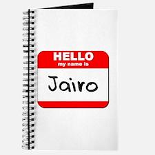 Hello my name is Jairo Journal