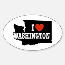 I Love Washington Oval Decal