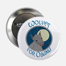 """Wolves for Obama 2.25"""" Button (10 pack)"""
