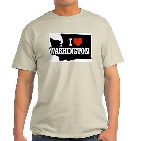 I Love Washington Ash Grey T-Shirt