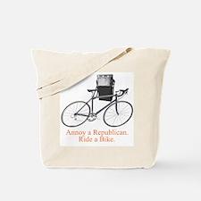 Annoy a Republican. Ride A Bi Tote Bag
