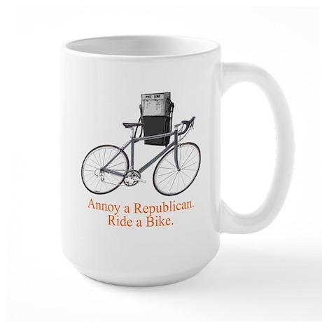 Annoy a Republican. Ride A Bi Large Mug