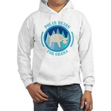 Polar Bears for Obama Hoodie