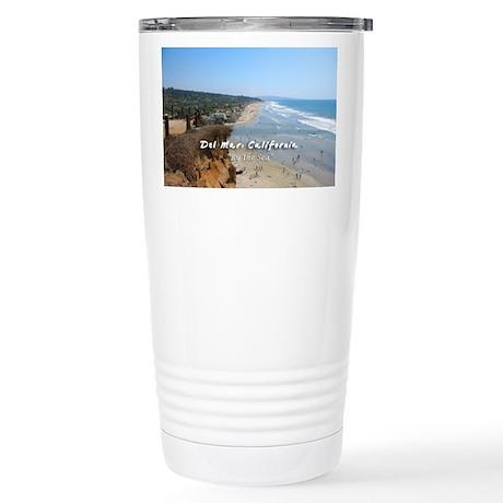 Del Mar City Beach Stainless Steel Travel Mug