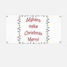 Merry Afghan Banner