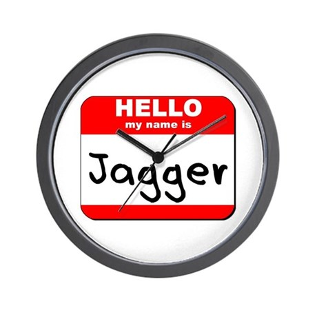 Hello my name is Jagger Wall Clock