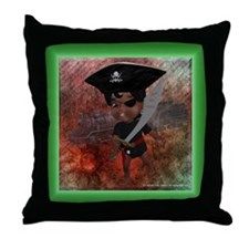 Funny Ahoy matey Throw Pillow