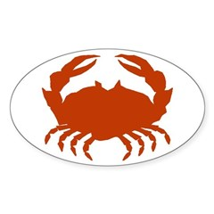 Boiled Crabs Oval Decal