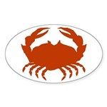 Boiled Crabs Oval Sticker
