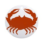 Boiled Crabs Ornament (Round)