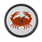 Boiled Crabs Large Wall Clock