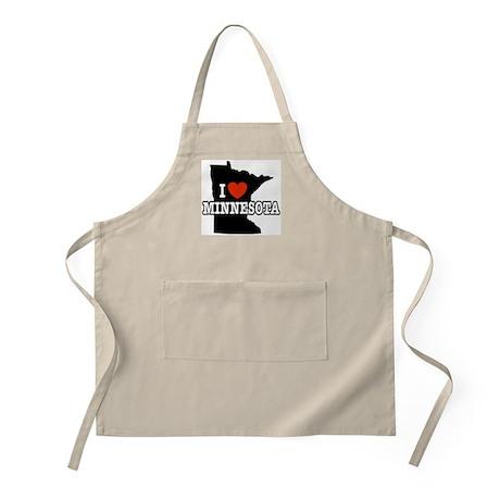 I Love Minnesota BBQ Apron