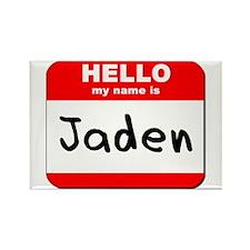 Hello my name is Jaden Rectangle Magnet