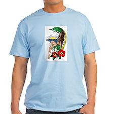 Hawaii Hula Girl Tattoo T-Shirt