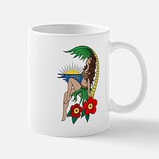 Hawaii Hula Girl Tattoo Mug