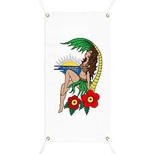 Hawaii Hula Girl Tattoo Banner