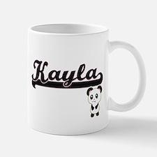 Kayla Classic Retro Name Design with Panda Mugs