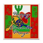 Happy Cinco de Mayo Tile Coaster