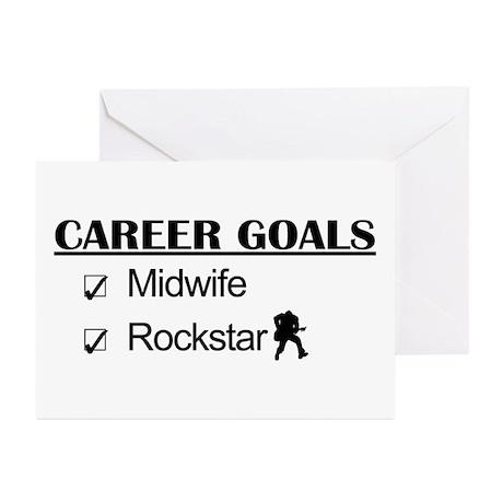 Midwife Career Goals - Rockstar Greeting Cards (Pk