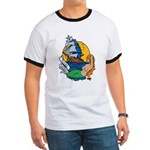 Flying Maiden Mermaid Tattoo (Front) Ringer T