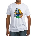 Flying Maiden Mermaid Tattoo Fitted T-Shirt