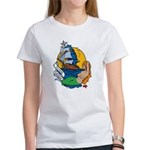 Flying Maiden Mermaid Tattoo (Front) Women's T-Shi