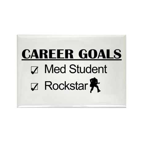 Med Student Career Goals - Rockstar Rectangle Magn