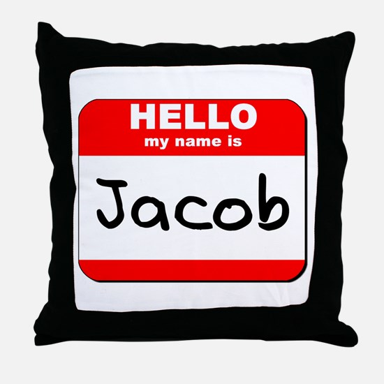 Hello my name is Jacob Throw Pillow