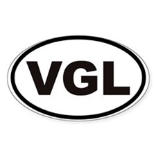 VGL - Very Good Looking Oval Decal