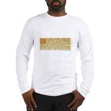Wright Business Card Long Sleeve T-Shirt
