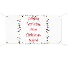 Merry Belgian Tervuren Banner