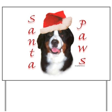 Berner Paws Yard Sign