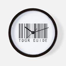 Tour Guide Bar Code Wall Clock