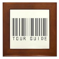 Tour Guide Bar Code Framed Tile