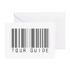 Tour Guide Bar Code Greeting Card