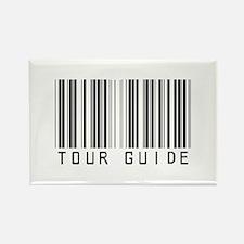 Tour Guide Bar Code Rectangle Magnet