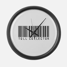Toll Collector Barcode Large Wall Clock