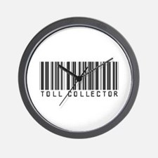 Toll Collector Barcode Wall Clock