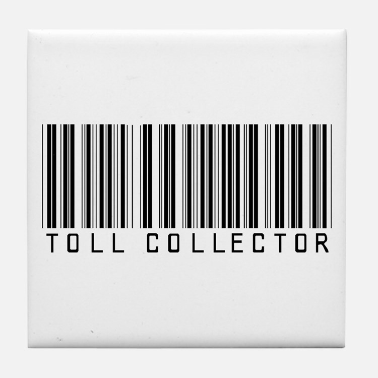 Toll Collector Barcode Tile Coaster