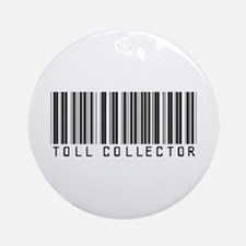 Toll Collector Barcode Ornament (Round)