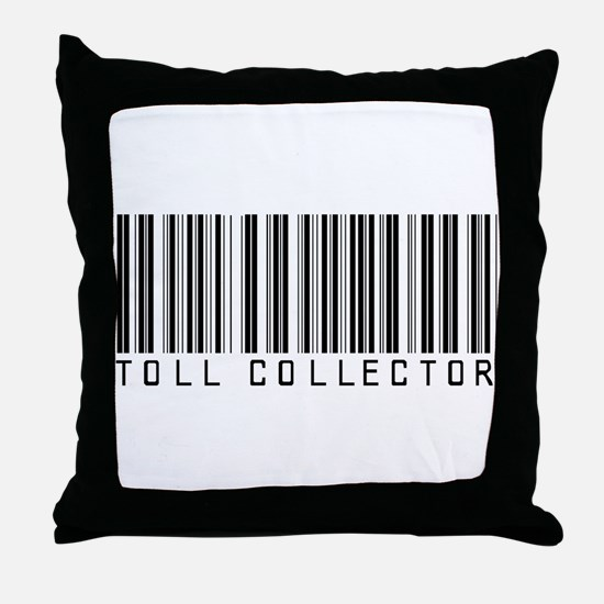 Toll Collector Barcode Throw Pillow