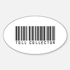 Toll Collector Barcode Oval Decal