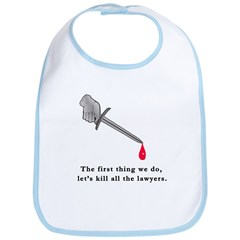 Shakespeare Lets Kill all the Lawyers Bib