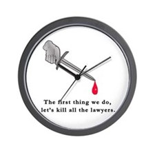 Shakespeare Lets Kill all the Lawyers Wall Clock